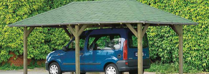 Einzelcarport aus Holz
